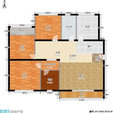 金都华庭4室0厅1卫1厨166.00㎡户型图