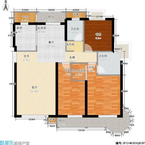 伊萨卡排屋3室0厅2卫1厨151.00㎡户型图