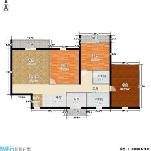 金都华庭3室0厅2卫1厨151.00㎡户型图