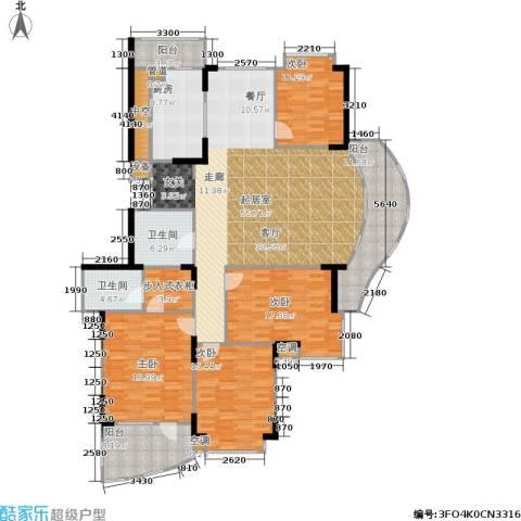 金都华庭4室0厅2卫1厨185.00㎡户型图