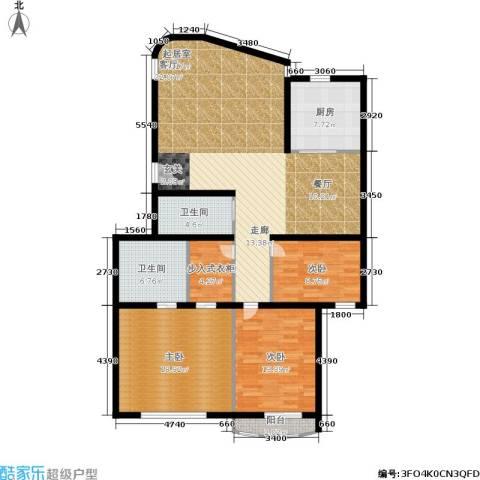 金都华庭3室0厅2卫1厨126.00㎡户型图