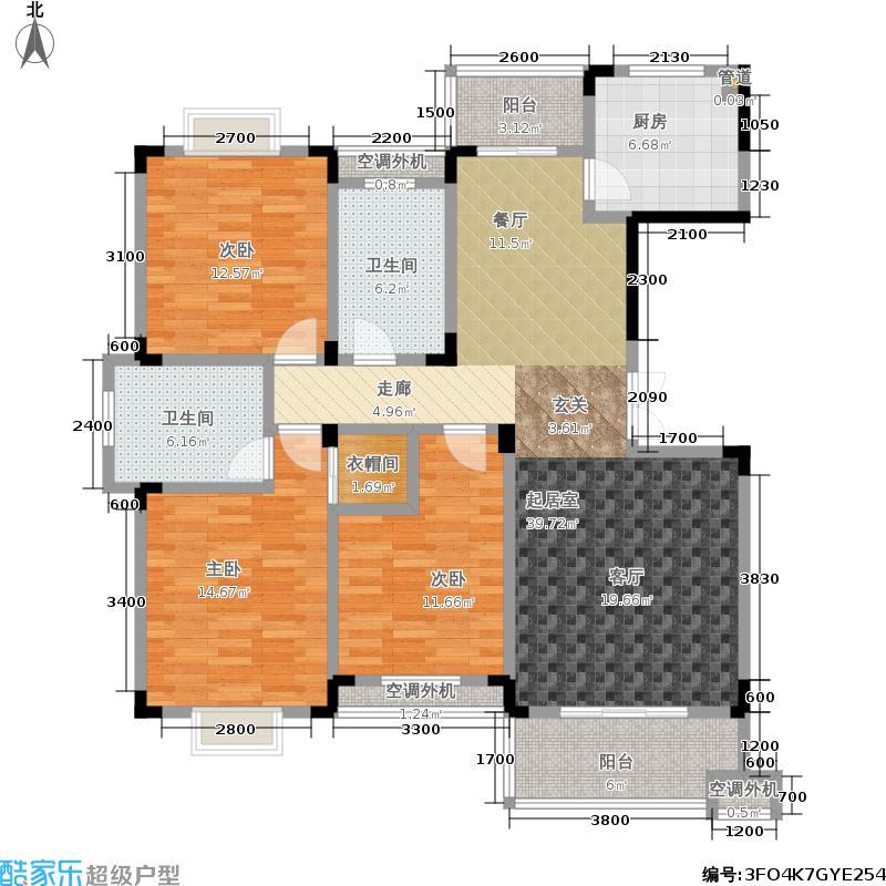 文昌苑户型3室2卫1厨