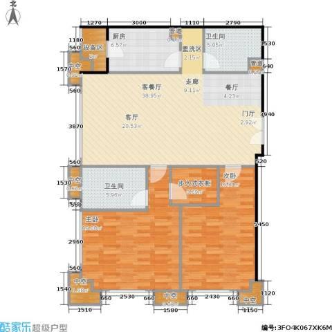 国瑞紫金阁2室1厅2卫1厨140.00㎡户型图