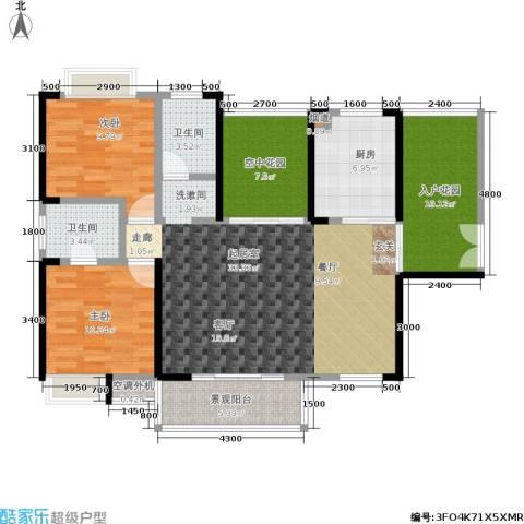 金汇上元2室0厅2卫1厨112.00㎡户型图