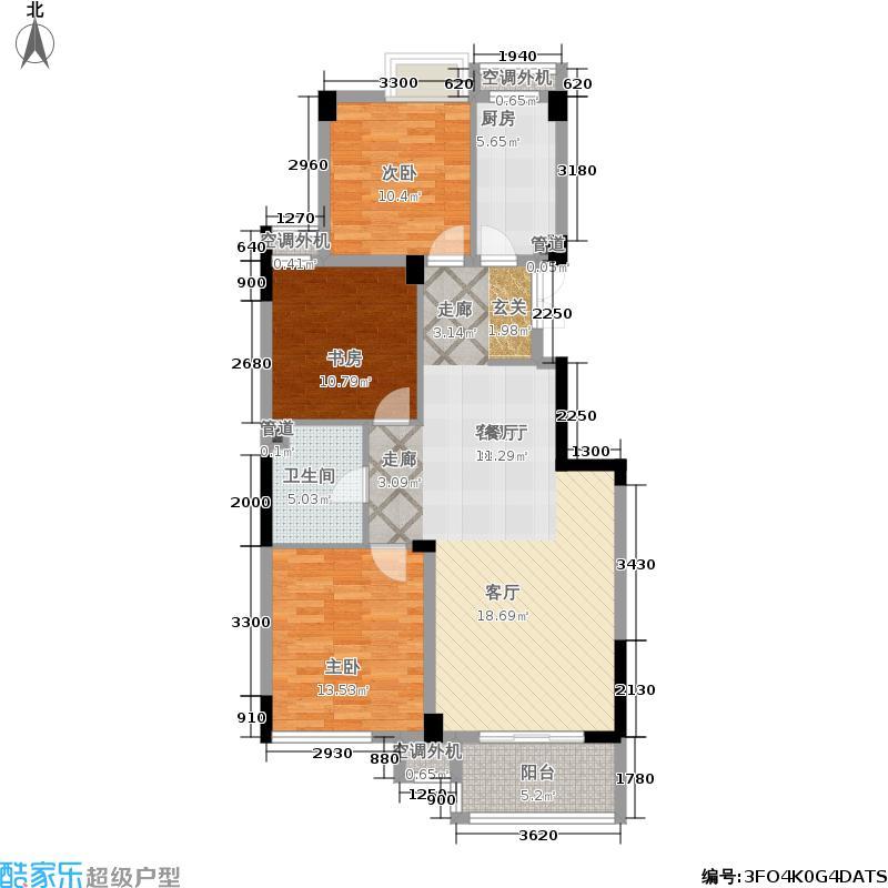 元都新景公寓115.00㎡6、8、11幢面积11500m户型