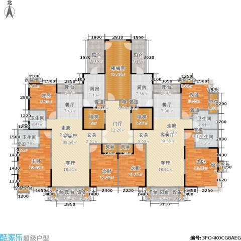 现代景苑6室2厅4卫2厨348.00㎡户型图