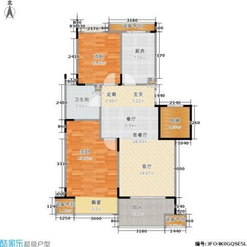 泊林公寓2室1厅1卫1厨85.50㎡户型图
