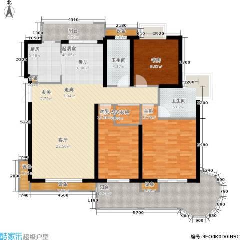 伊萨卡排屋3室0厅2卫1厨168.00㎡户型图
