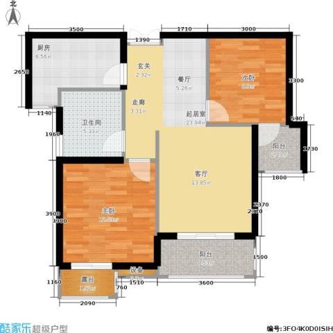 伊萨卡排屋2室0厅1卫1厨94.00㎡户型图