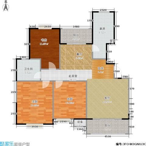 海天城3室0厅1卫1厨117.00㎡户型图
