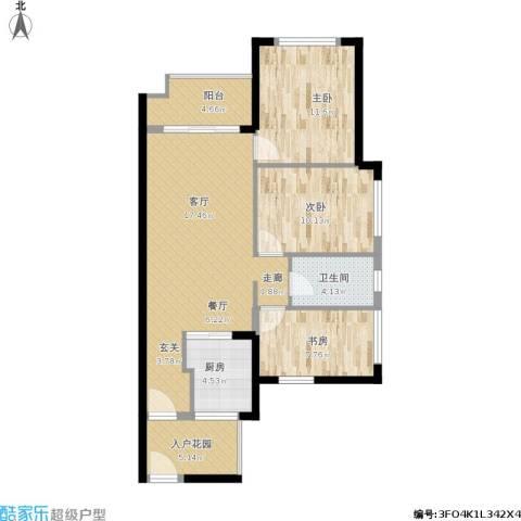 万科金悦香树3室1厅1卫1厨106.00㎡户型图