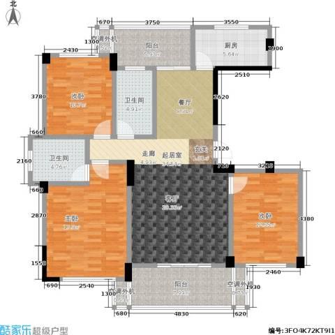 世纪金都3室0厅2卫1厨118.00㎡户型图