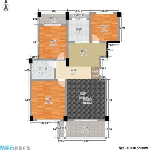 世纪金都3室0厅1卫1厨103.00㎡户型图