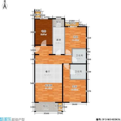加州水郡一期3室0厅2卫1厨128.00㎡户型图