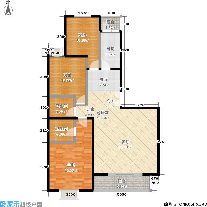 江南山水145.80㎡一期A1号楼E1户型