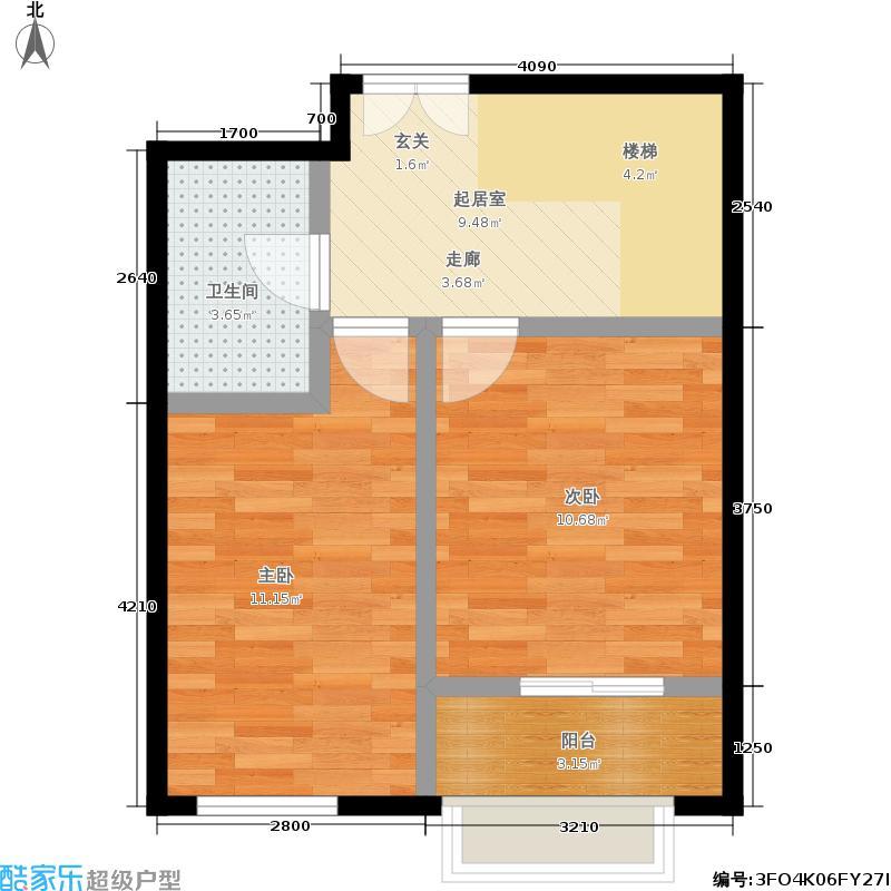 江南山水113.53㎡一期A1号楼C2二层户型