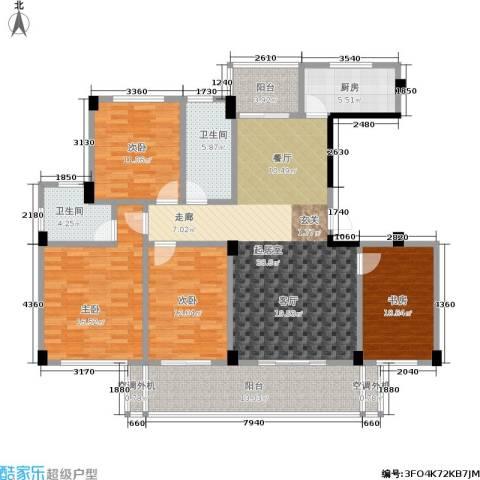 世纪金都4室0厅2卫1厨138.00㎡户型图
