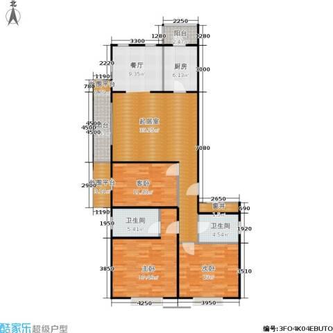 加州水郡一期3室0厅2卫1厨148.00㎡户型图