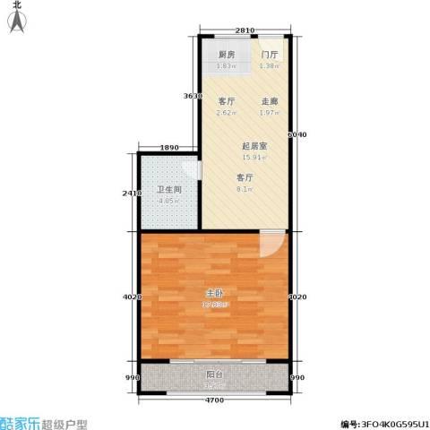 凤起都市花园1室0厅1卫0厨45.00㎡户型图