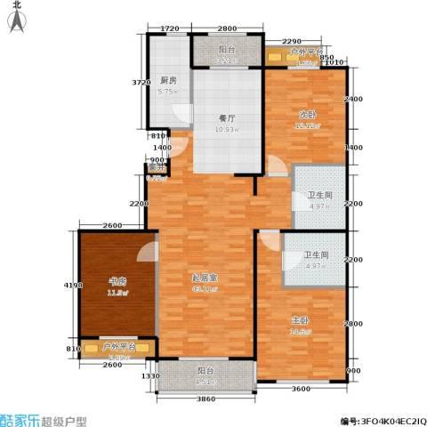 加州水郡一期3室0厅2卫1厨147.00㎡户型图