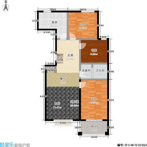 天元府邸3室0厅1卫1厨109.00㎡户型图