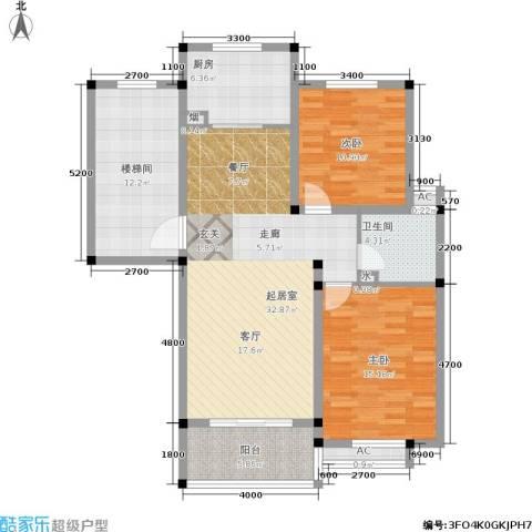 多蓝水岸2室0厅1卫1厨127.00㎡户型图