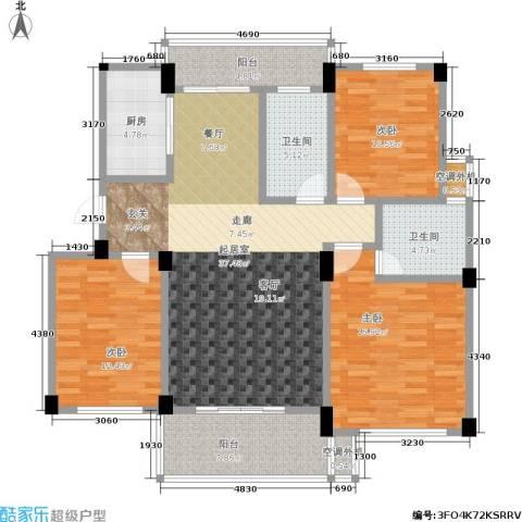 世纪金都3室0厅2卫1厨119.00㎡户型图