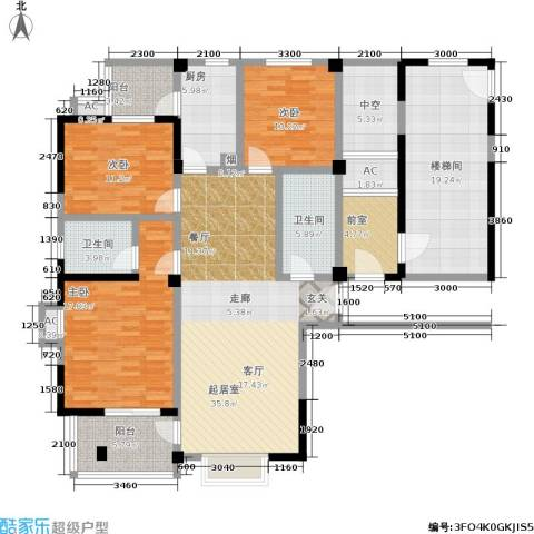 多蓝水岸3室0厅2卫1厨193.00㎡户型图
