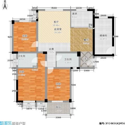 多蓝水岸3室0厅2卫1厨168.00㎡户型图