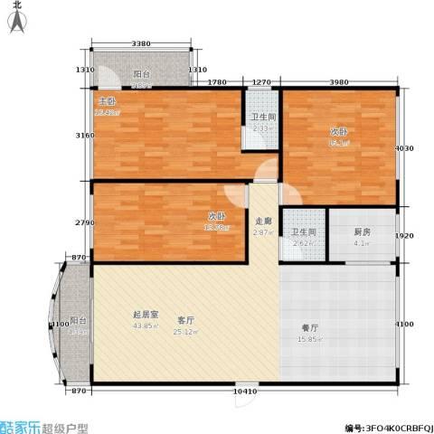 水星阁3室0厅2卫1厨114.00㎡户型图
