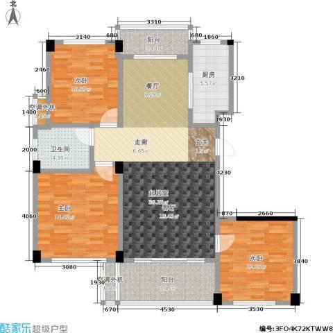 世纪金都3室0厅1卫1厨106.00㎡户型图