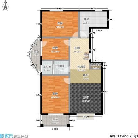 天元府邸3室0厅1卫1厨118.00㎡户型图