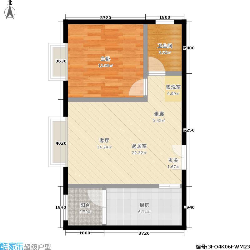 江南山水68.71㎡一期A1号楼M户型