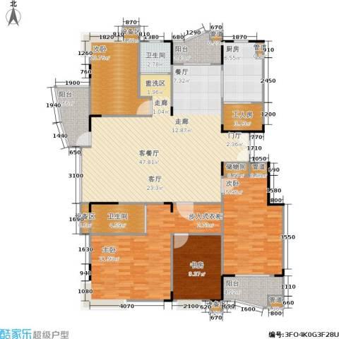 现代家园4室1厅2卫1厨188.00㎡户型图