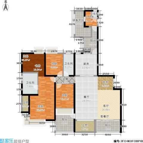 万象城悦府3室1厅3卫1厨211.00㎡户型图