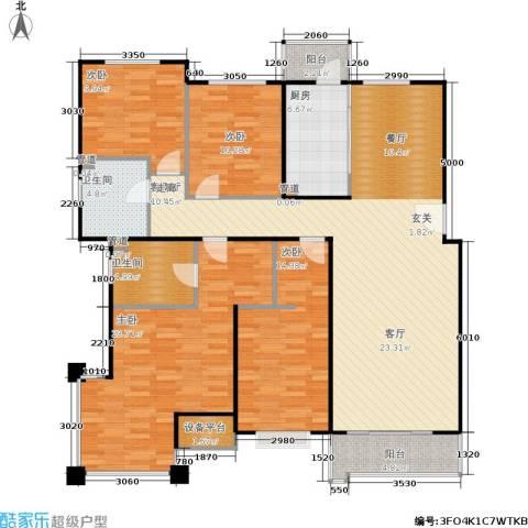 合景香悦四季4室1厅2卫1厨140.00㎡户型图