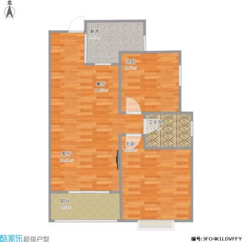 世纪之门2室1厅1卫1厨84.00㎡户型图