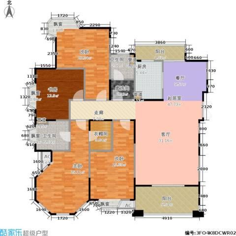 世嘉国际华城二期4室0厅2卫1厨202.00㎡户型图
