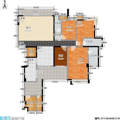 五洲花城二期4室0厅3卫1厨241.00㎡户型图