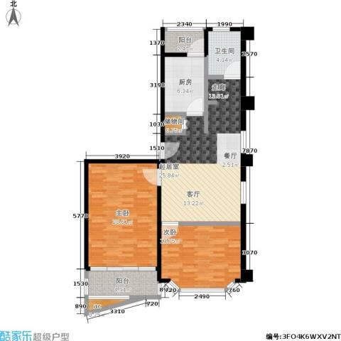 飘鹰东方花园一期2室0厅1卫1厨89.00㎡户型图