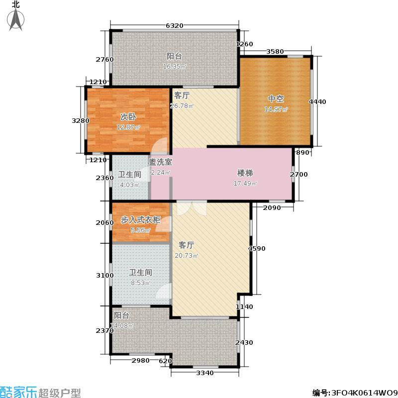 康城暖山B6-1二层户型