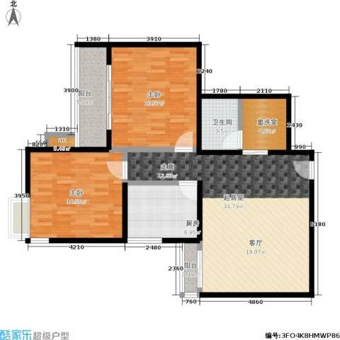 双花园小区2室0厅1卫1厨94.00㎡户型图
