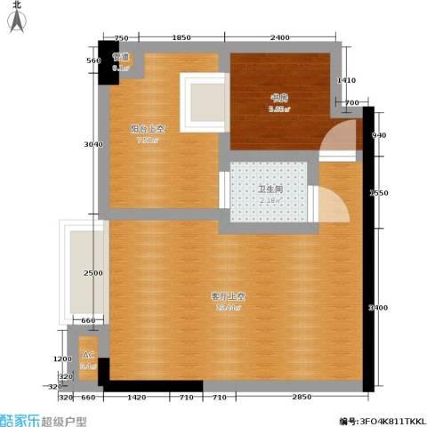 兰花丽景二期 兰花丽景添丁1室0厅1卫0厨52.00㎡户型图