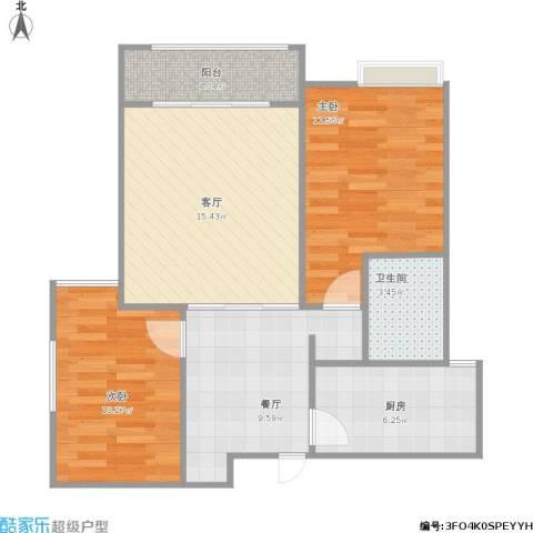 顺佳金悦府2室2厅1卫1厨82.00㎡户型图