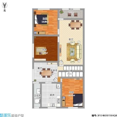 锦绣新天地3室1厅1卫1厨144.00㎡户型图