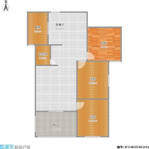楚河花园3室1厅1卫1厨134.00㎡户型图