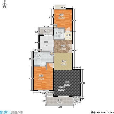 康桥半岛(五期)2室0厅2卫1厨127.00㎡户型图