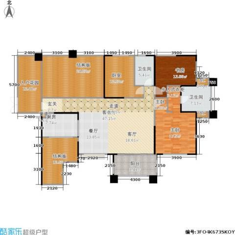 长城半岛城邦2室1厅2卫1厨173.39㎡户型图