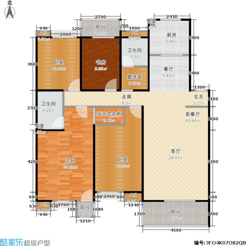 合肥岸上玫瑰户型2室1厅2卫1厨