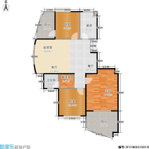 合肥岸上玫瑰1室0厅1卫1厨98.00㎡户型图